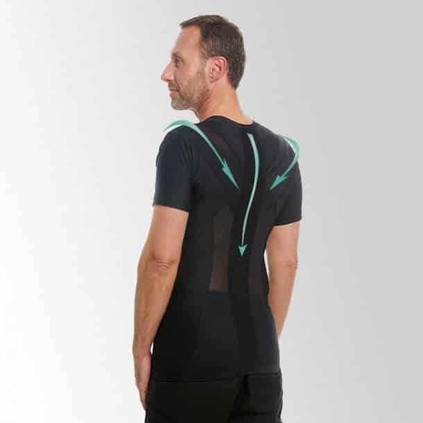 Holdningskorrigerende tøj - Anodyne Men's Posture T-Shirt 2.0 - Sort.