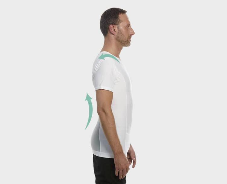 Holdningskorrigerende tøj - T-shirt til mænd fra Anodyne.