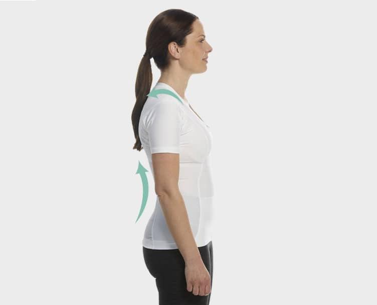 Holdningskorrigerende tøj - T-shirt til kvinder fra Anodyne.