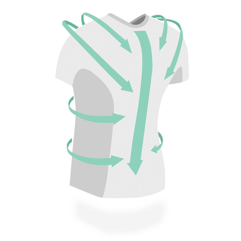 Sådan virker Posture shirt ryg korrektur.