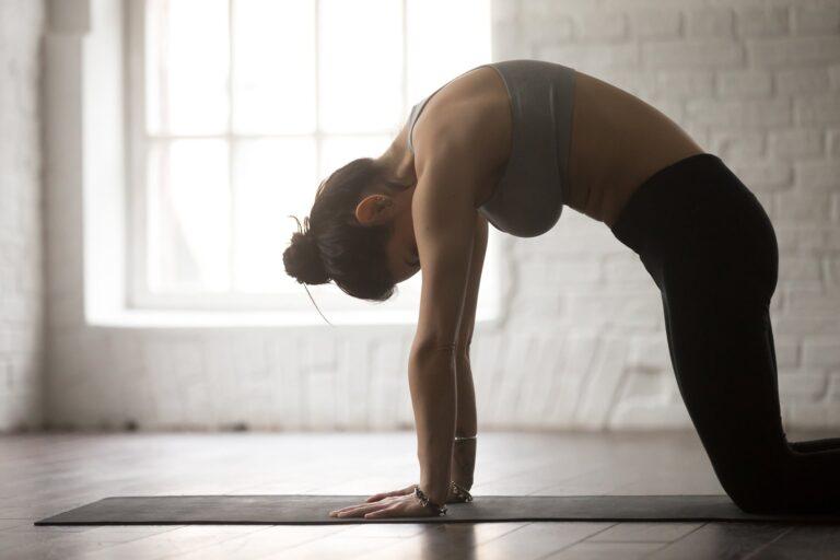 Rygøvelser diskusprolaps - Kamelen yogaøvelse