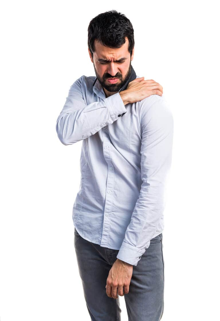 Prøv med skulder øvelser hjemme hvis du har skuldersmerter.