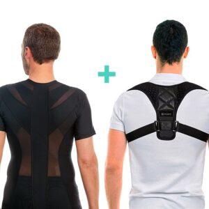 Anodyne Juletilbud - Men's posture shirt™ (sort) og skulderstøtte comfort.